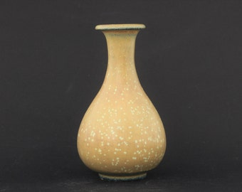 "Gunnar Nylund, Rörstrand ""Stoneware vase with beautiful yellow egg-shell glaze"""