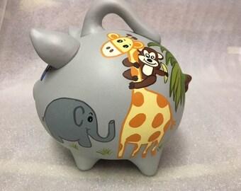 Piggy Bank: JUST HANGIN AROUND! Personalized