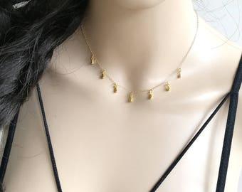 Drops Necklace, Drops Gold Necklace, Teardrop Necklace, Teardrop Gold Necklace, Dainty Drop Necklace, Dainty Teardrop Necklace, Necklace