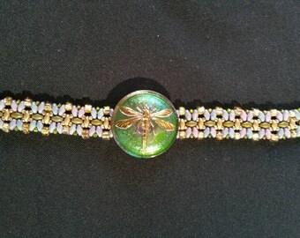 Czech Glass Dragonfly Bracelet