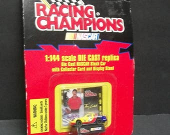 1997  Terry Labonte Bayer Aspirin Collectible Diecast Mini Car #5 1/144 Scale NASCAR Diecast Car New On Bent Card By Racing Champions