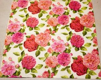 Decoupage napkin for decoupage Paper napkin shabby chic flower floral Decoupage napkins scrapbooking paper craft decoupage