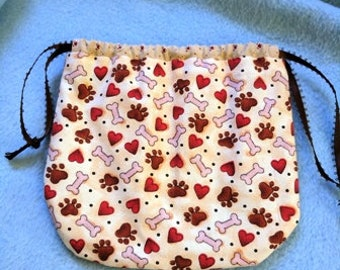 Small drawstring bag, phone case, wristlet