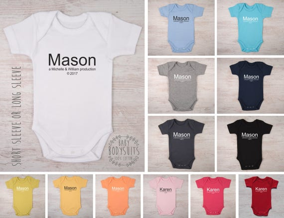 Personalized baby gifts parents production baby bodysuit like this item negle Image collections