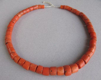 Antique Mediterranean Сoral, Natural Coral beads, Jewelry coral necklace. FREE SHIPPING!!!