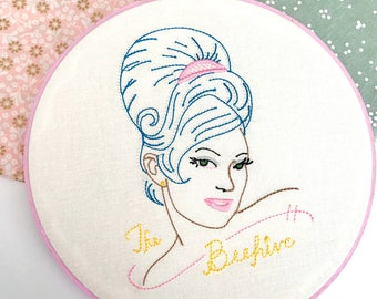 Beehive | Retro Art | Home Decor | Hairdresser Gift | Salon Decor | Vintage Inspired | Gift for Her | Cloth and Twig