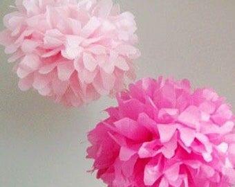 "Tissue Paper Pom Poms 5"", 8"", 12"""
