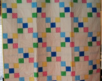 9-Patch Throw Quilt