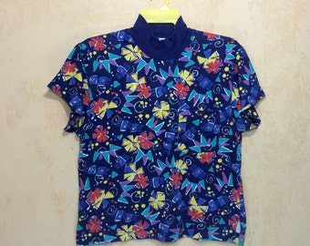Vintage Nike Flowers Art Grafitti Single Pocket T-shirt Small Size