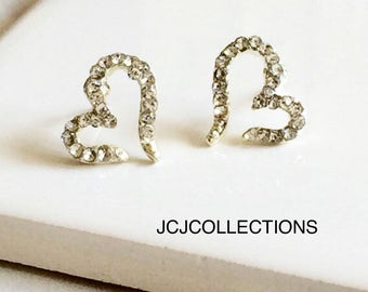 Silver Open CZ Earrings
