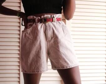 Vintage Acid Wash Khaki Shorts