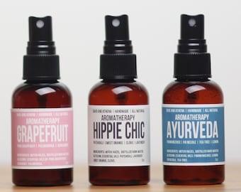 Aromatherapy Spray, Yoga Mat Spray, Room Spray, Ayurveda Spray, Deodorizer, Car Spray, Essential Oil Spray, Mood Enhancer