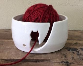 Kitty Yarn Bowl