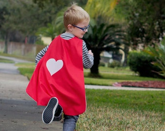 Custom Valentine's Day Heart Cape - Handmade and Reversible
