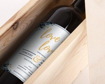 Étiquette de vin personnalisée - Mariage - Mon Vin Personnalisé