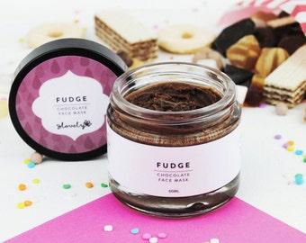 Fudge - Chocolate Face Mask - Natural Face Mask - Handmade Face Mask - Dry Skin - Sensitive Skin