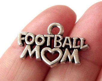 "4, ""Football Mom"" Charms 25x16mm ITEM:AW59"