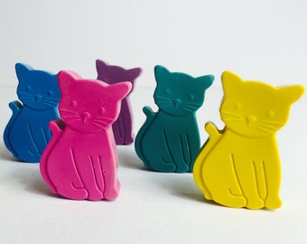 Cat Crayons, Kids Birthday Gift, Cat Gift Boxed Crayons, Colouring Activities, Kids Craft, Animal Lover, Kids Gift Boy or Girl, Party Favour