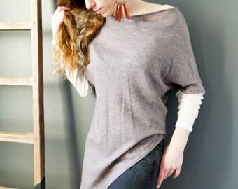 sweater tunic Beja asymmetric oversized
