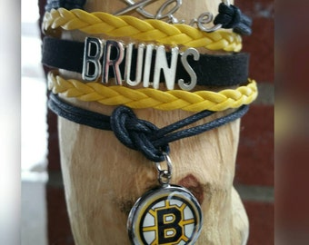 Infinity love bracelet Boston Bruins  (your choice of image )
