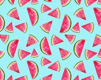 SWIM Fabric: Watermelons UV 50+ Swim Fabric. Sold by the 1/2 yard