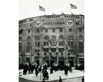 Vintage photo Yankee Stadium New York Yankees old baseball stadium NY Yankees poster print poster