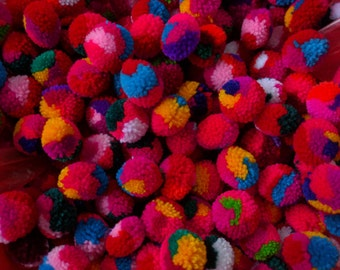 Wholesale 500count of 2 cm PomPom s mixed colors