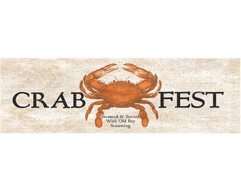 Crab Fest Sign- Crab Wall Sign
