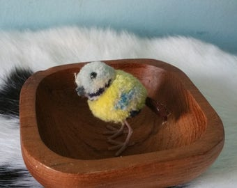 STEIFF super tiny cute pom pom bird! Collectible vintage Steiff miniature bird wool 1950s
