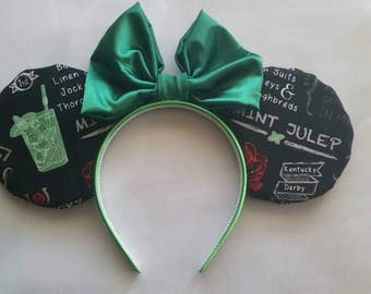 Mint Julep themed Kentucky Derby ears