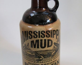 Mississippi Mud Black & Tan Alligator Label-1 Quart Bottle