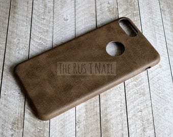FREE SHIPPING - Brown iPhone 7 Plus Ultra Slim Leather Case