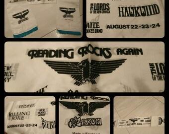 Saxon  Reading rocks Festival1986, vintage scarf, a real fetish of heavy metal !!