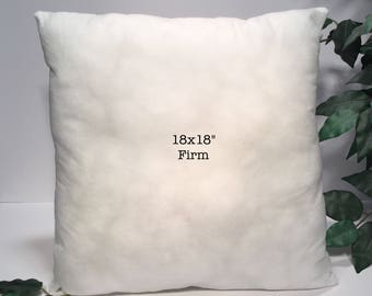 "Pillow Form, Pillow Insert, 18x18"" Pillow Insert, 18x18"" Pillow Form, Firm Pillow Insert, Firm Pillow Form"