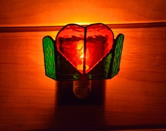 Stained Glass Valentine Night Light