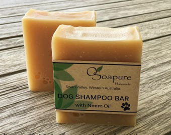 Dog Shampoo Bar with Neem Oil | Cold Process Handmade Soap
