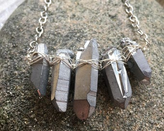 Titanium Quartz Necklace
