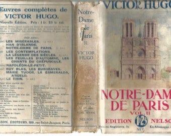 Edition Nelson nr 17 . Victor Hugo : Notre-dame de Paris . Volume 2