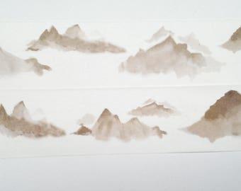 Design Washi tape mountains mountain Brown
