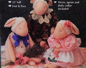 """Lamb & Clothing Pattern - 21"""" Stuffed Lamb - Fast and Easy Pattern - by """"Gooseberry Hill"""""""