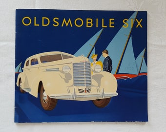 1937 Oldsmobile Six Coupe, Convertible, and Sedan Dealer Sales Brochure