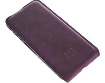 iPhone 7 Flip Stand Case New* Design, iPhone 7 Geniune Leather Case, iPhone 7 Leather Case Flip Stand Case in AnticPurple