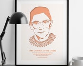 Ruth Bader Ginsburg Quotes - Girl Power - Wall Art - Nevertheless She Persisted - Feminist Gifts - Law School - Christmas gift - women gift
