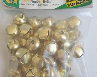 Darice Gold Jingle Bells 5/8 inch 36 pieces