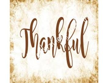 thankful svg dxf