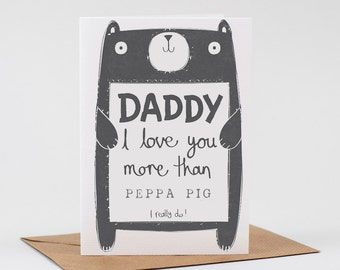 Daddy birthday Card, personalised daddy birthday card, Free UK delivery, personalized daddy birthday card
