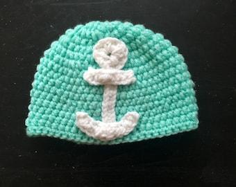 Anchor newborn hat
