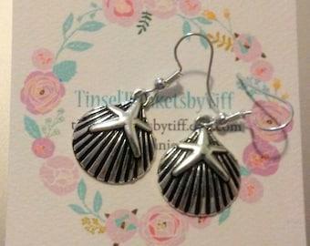 Mermaid Jewelry - Seashell Jewelry - Seashell Earrings - Boho - Beach - Ocean - Kawaii - Fairy Kei - Lolita