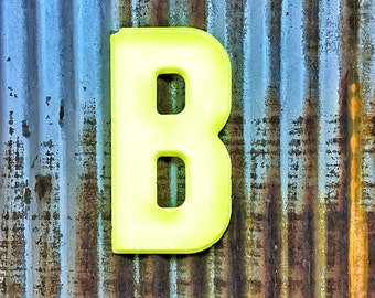 Vintage Metal Marquee Sign Letter, Metal Letter B, Industrial Metal Letter, Sign Letter