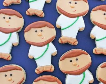 Jesus Sugar Cookies / Baptism Sugar Cookies / First Communion Sugar Cookies